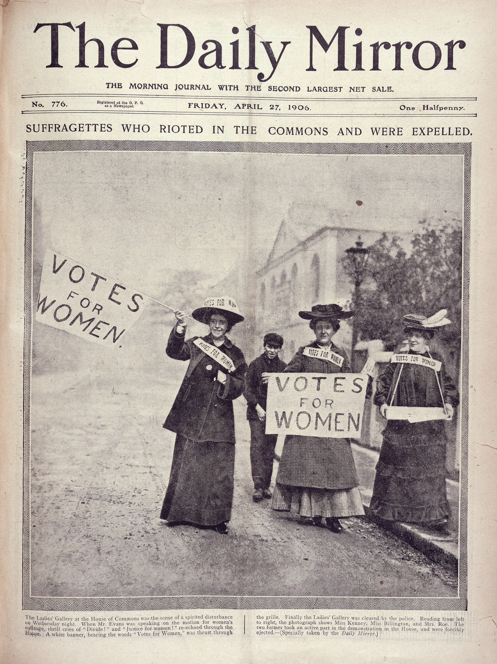 . The Daily Mirror  27  1906 .  The British Library Board.