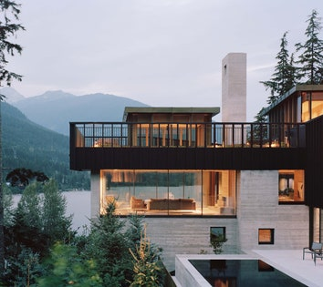 Дом на скале в Канаде