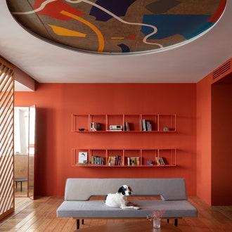 Как оформить цветной потолок: 8 интересных вариантов