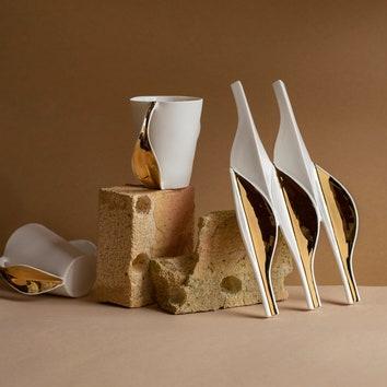 Авторская коллекция фарфоровой посуды Leaf Laurel by Rybalkina