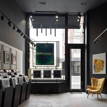 Обновленный интерьер арт-галереи Carré d'artistes