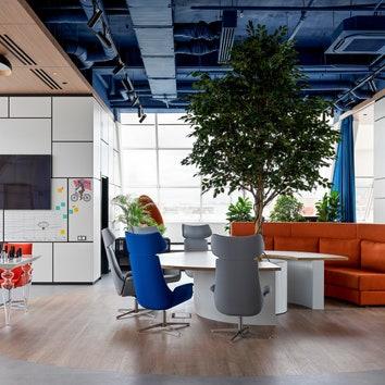 Офис с видом на центр Москвы