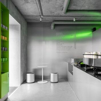 """Кафе и арт-пространство """"2046"""" по проекту Crosby Studios"""