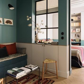 Квартира в Париже по проекту Марианны Эвенну, 25 м²