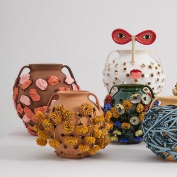 """""""Плетеные"""" вазы от Loewe"""