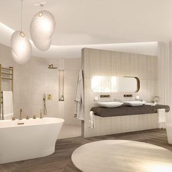 Атмосфера Парижа: выбираем аксессуары и сантехнику для роскошной ванной комнаты
