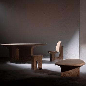 Мебель из пробки по дизайну Ноэ Дюшофур-Лоранса