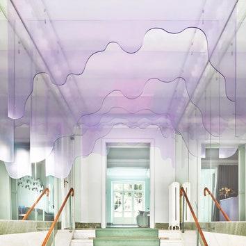 Стокгольмский салон красоты с интерьером в пастельных тонах