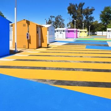 Поселок для бездомных в Лос-Анджелесе по проекту Lehrer Architects