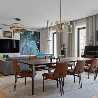 Квартира с большой коллекцией искусства, 200 м²