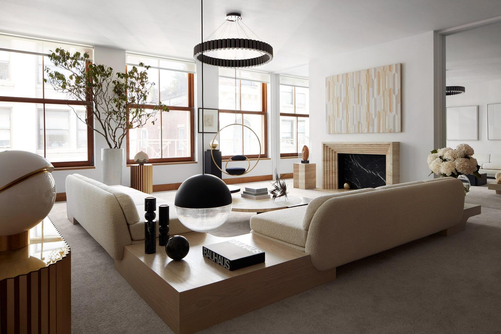 .  White Street   Tribeca Tables  Fulcrum   Hanging Hoop Chair  Carousel XL   Lee Broom.