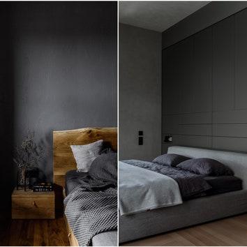 Черные ночи: 5 квартир со спальнями в темных тонах