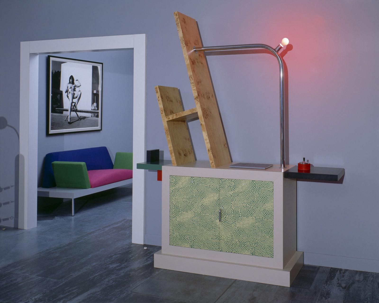 Karl Lagerfelds Monte Carlo Apartment with designs by Memphis Monaco 1982  Jacques Schumacher  VG BildKunst Bonn 2021...