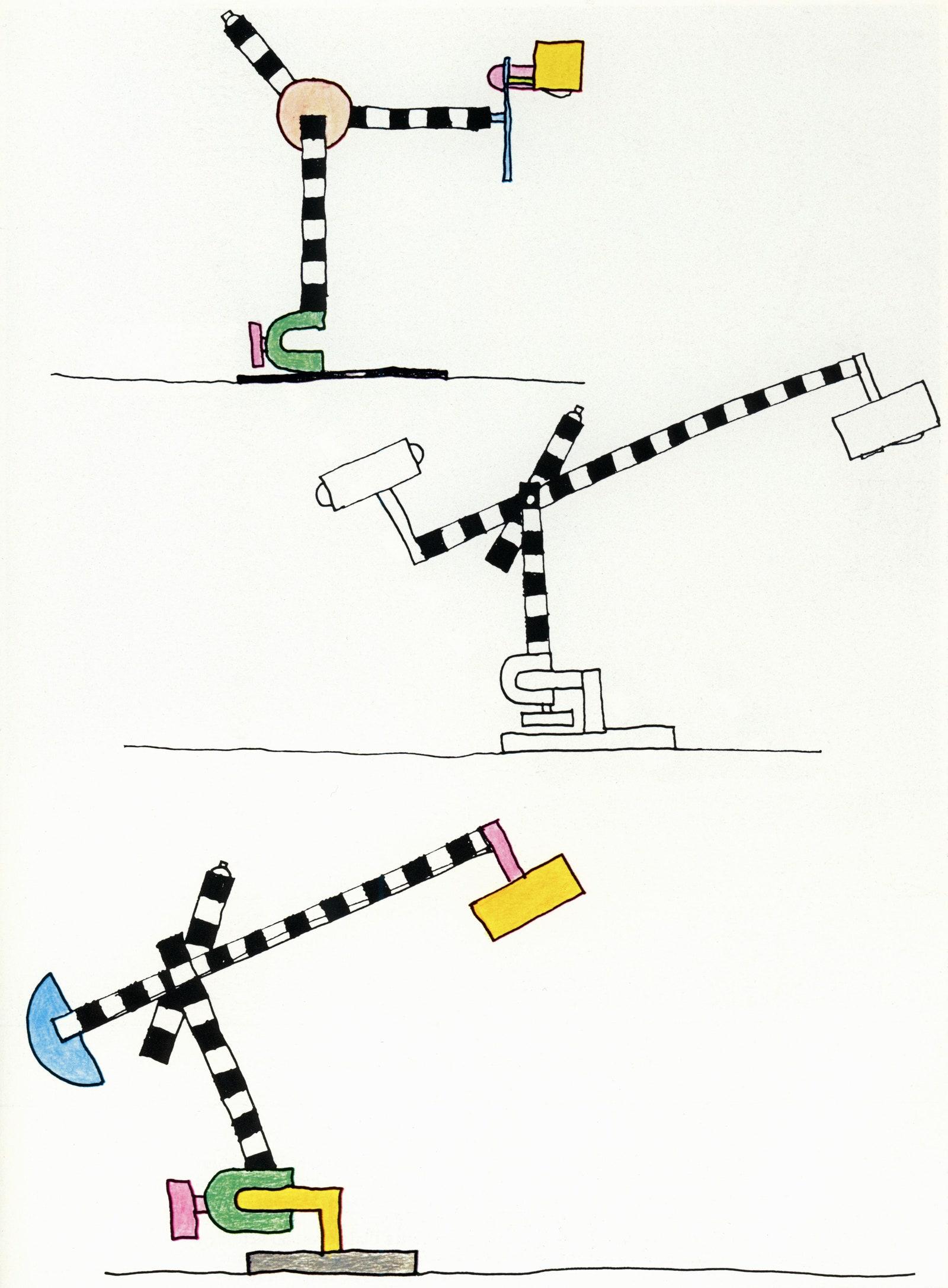 Michele de Lucchi drawings for lamps 1981  Michele de Lucchi