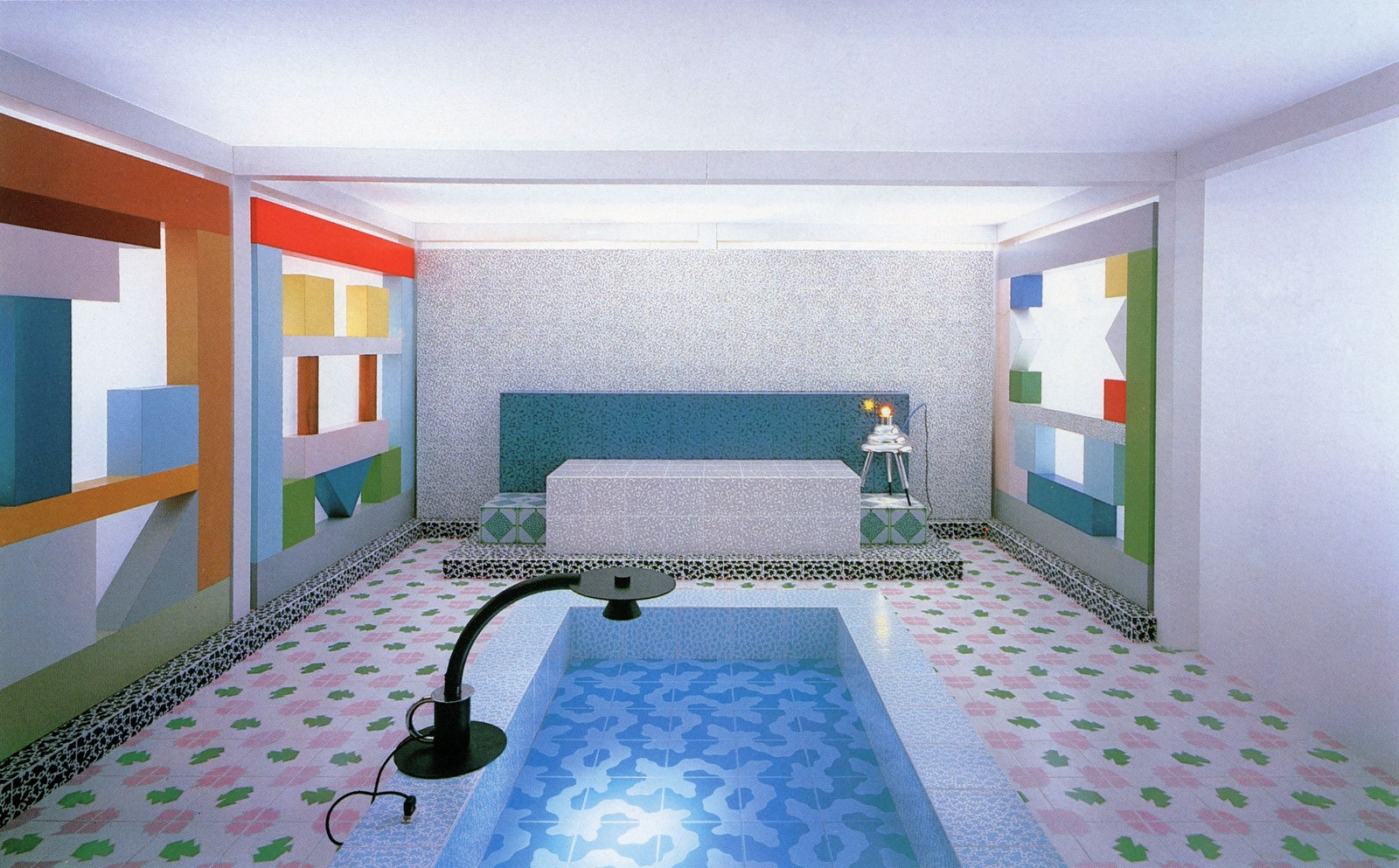 Sottsass Associati Interior for an exhibition on Italian Design in Tokyo 1984  Photo Marirosa Ballo  VG BildKunst Bonn...