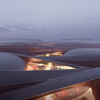 Проект выставочного центра в Пекине по дизайну Zaha Hadid Architects