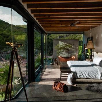 Зеркальный дом в горах Мексики