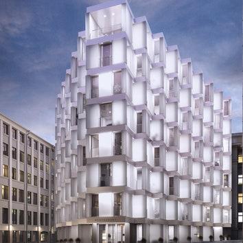 Lumin House: новый дом из матового стекла в Москве