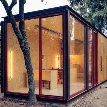 Модульный садовый офис в Мадриде