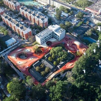 Детский сад с игровой площадкой на крыше по проекту MAD Architects