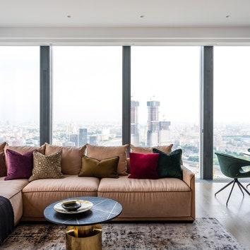Квартира на 42-м этаже башни Neva Towers, 124 м²
