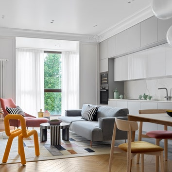 Квартира с тремя спальнями, 117 м²