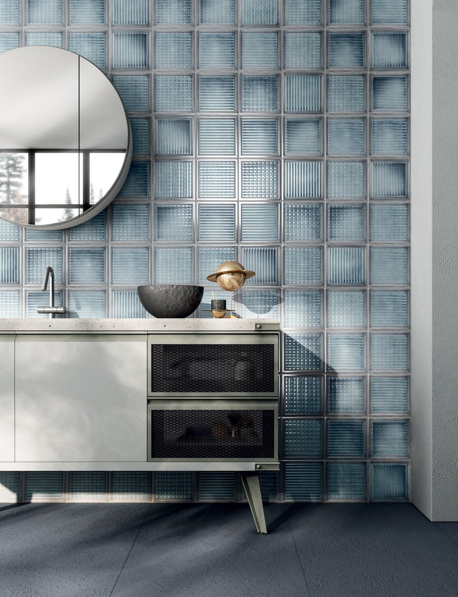 Glass Blocks Diesel Living with Iris Ceramica.
