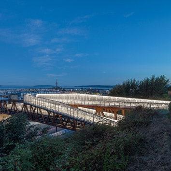 Мост с изящным ограждением в Эверетте