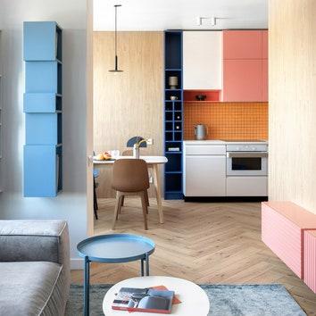 Цветная квартира в Киеве, 76 м²
