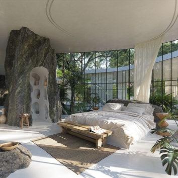 Дом в окружении деревьев в Бразилии