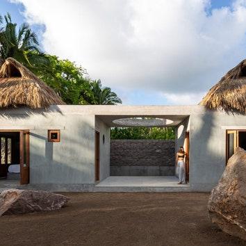Дом с террасой для медитации в Мексике
