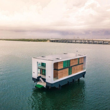 Дом-яхта по проекту студии Waterstudio.NL