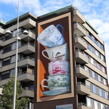 Стрит-арт в Хельсингборге от Леона Кира
