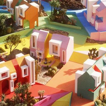 Воображаемое поселение Sonora Art Village в Мексике