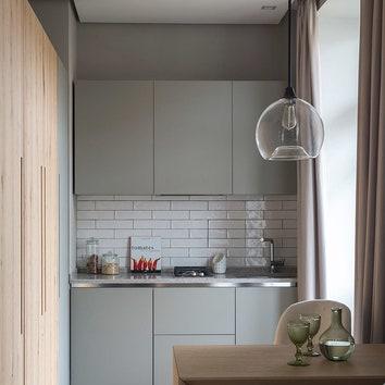 Дизайн узкой кухни: 17 примеров оформления