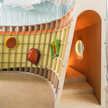 Детское игровое пространство в Нью-Йорке