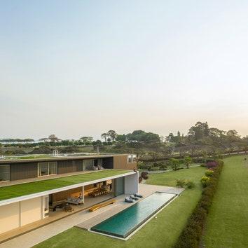 Дом с зеленой крышей в Бразилии