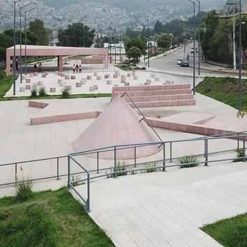 Общественные пространства в спальных районах Мексики