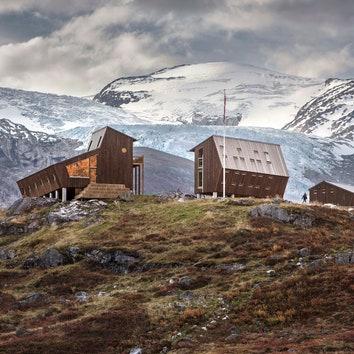 Бюро Snøhetta построило новую туристическую хижину у ледника в Норвегии