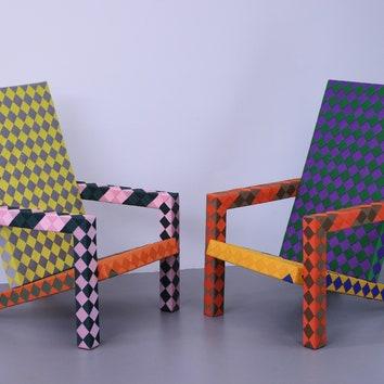 Шах и мат: кресла в клеточку от Лекса Потта