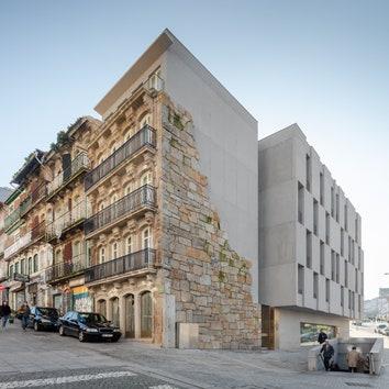 Жилой комплекс на руинах в Порту