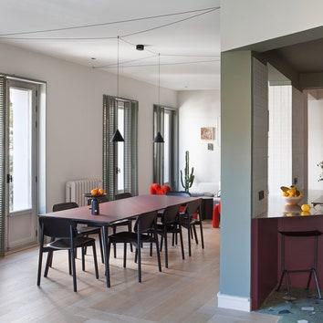 Многоцветная квартира в Мадриде, 150 м²