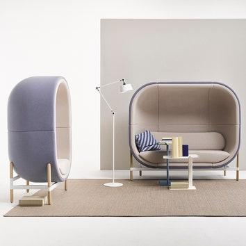 Звукопоглощающее капсульное кресло по дизайну Катерины Соколовой