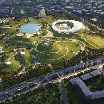 Бюро MAD строит в Китае крупнейший спортивный центр под землей