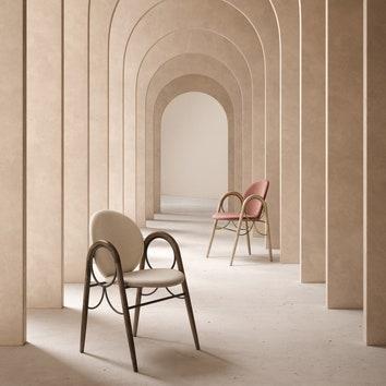 Перевыпуск архивной модели стула от Нанны Дитцель