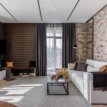 Брутальная квартира в Сочи, 110 м²