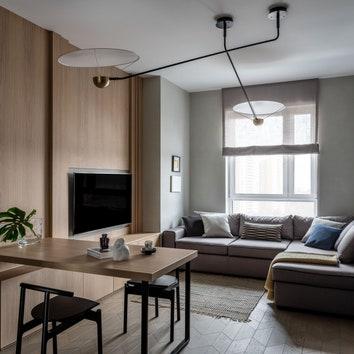 Квартира для молодого человека, 56 м²
