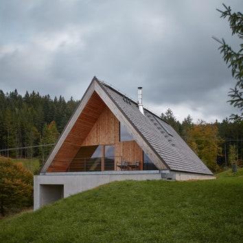 Дом из дерева и бетона в Чехии