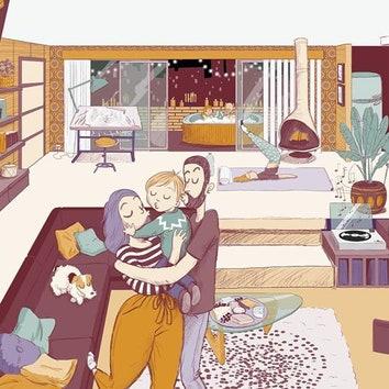 Нарисуйте дом своей мечты: флешмоб от французской художницы Пенелопы Бажьё
