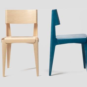Стол и стул из гнутой фанеры от Isokon